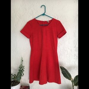J Crew Red Skater Dress